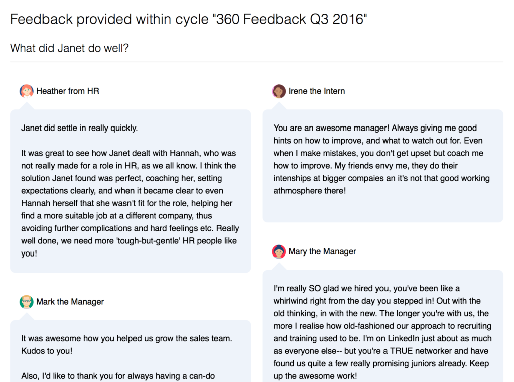 360 degree feedback results