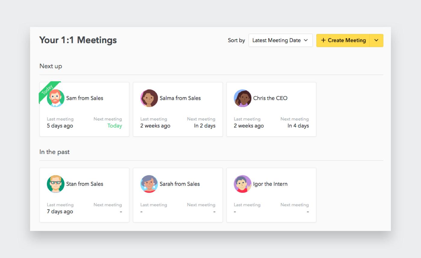1:1 Meetings