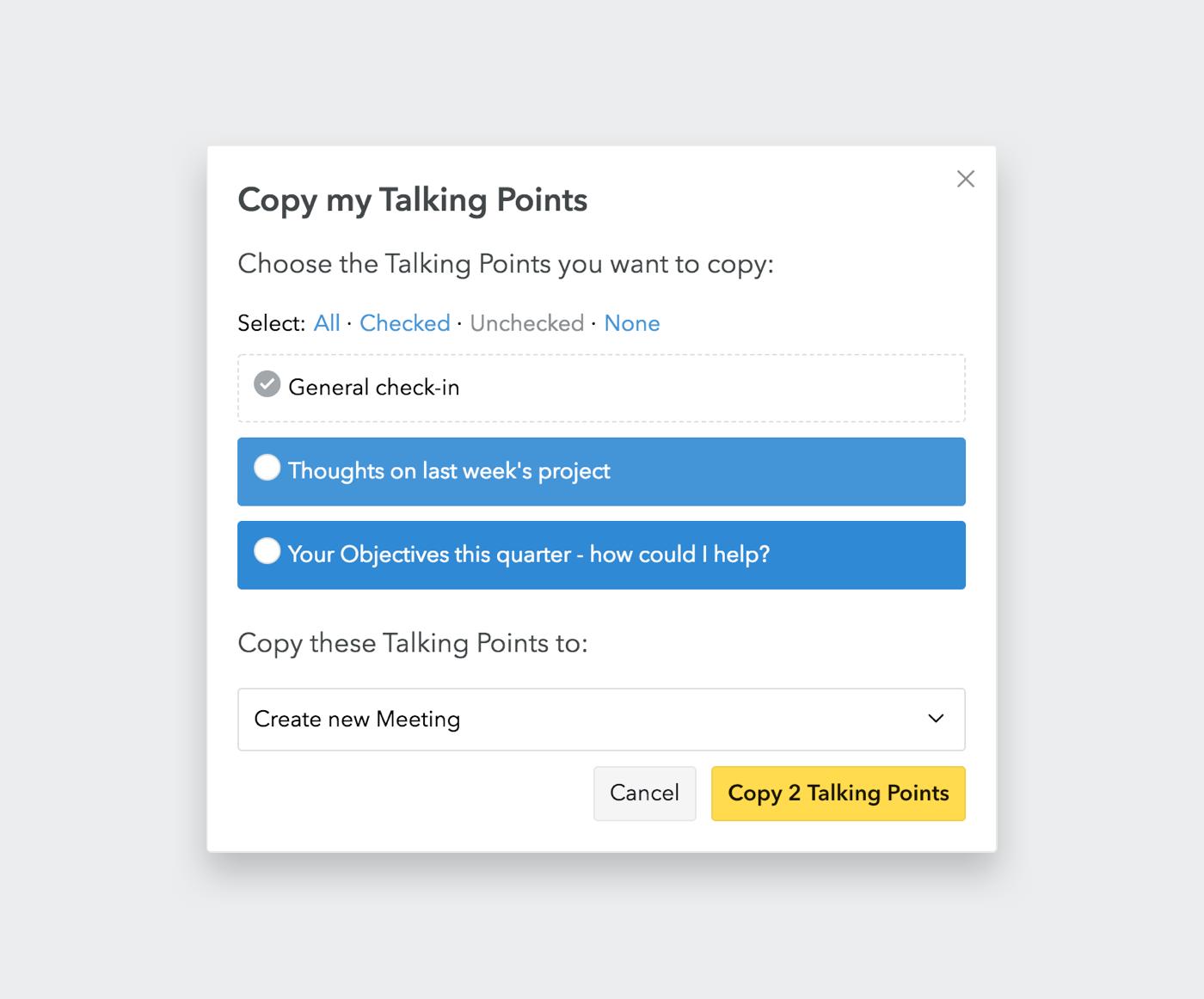 Copy Talking Points
