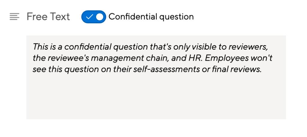 Confidential Questions