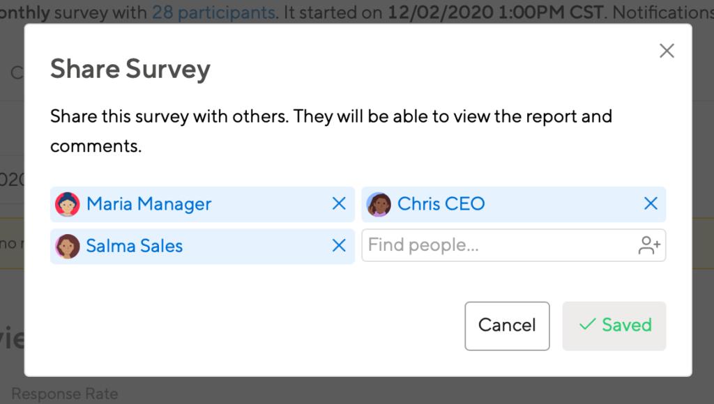 Share Surveys with anyone